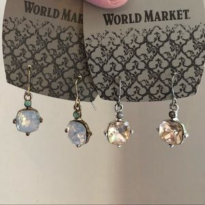 2 Pairs of World Market Enchanted Garden Earrings